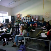 botany class in the lab