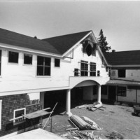 1983 exterior campus kaelber hall construction