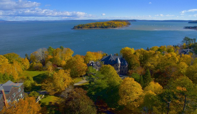 Overlooking Frenchman Bay, and COA in the autumn