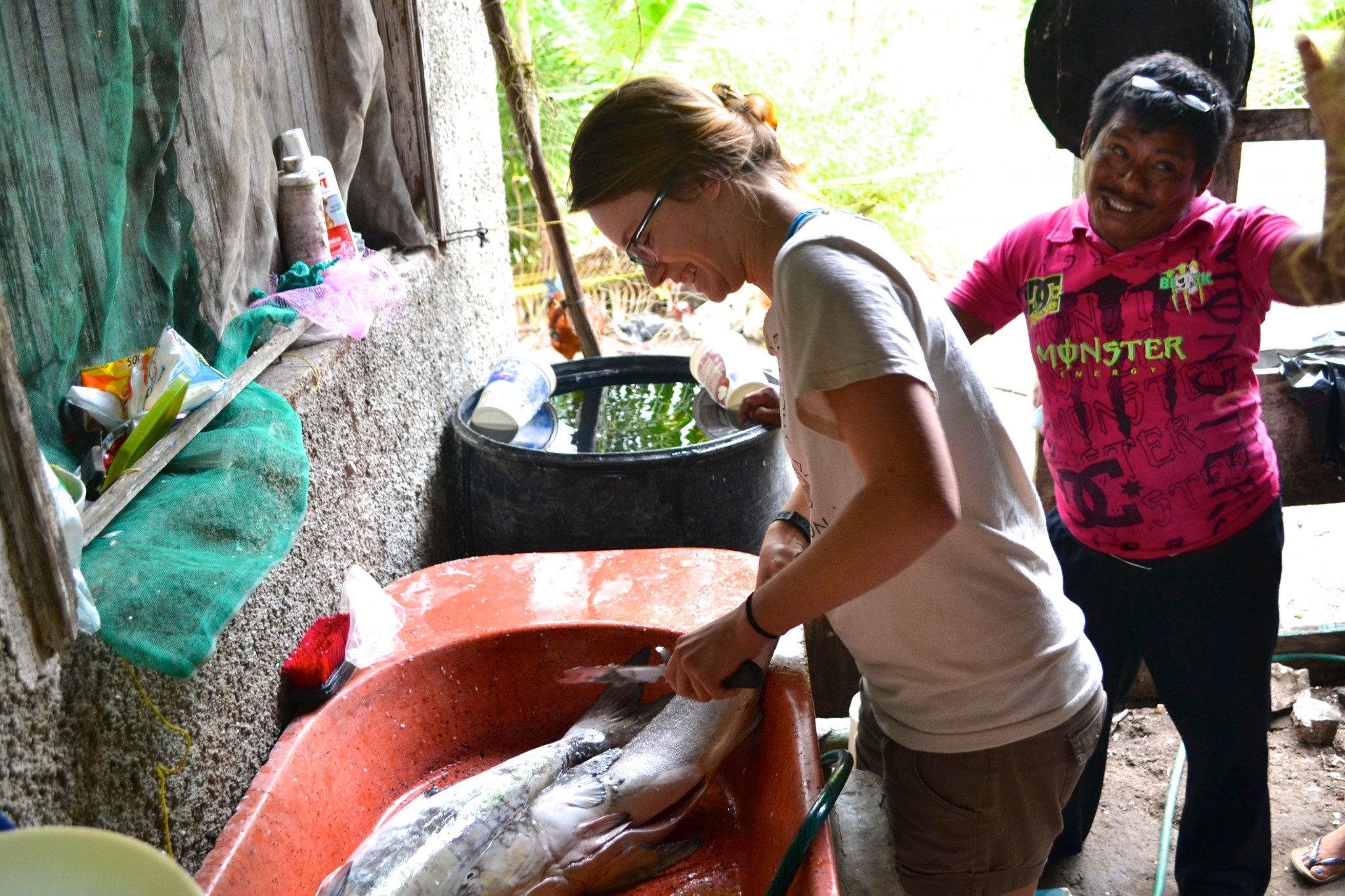 Learning traditional cooking methods during a term-long immersion in Mexico's Yucatán Peninsula.