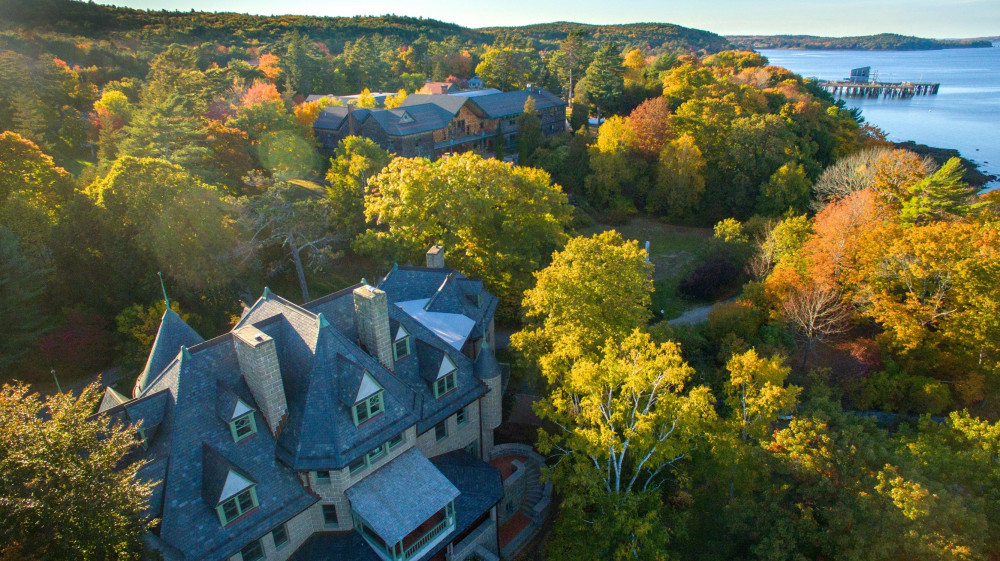 College of the Atlantic's oceanfront campus is sandwiched between Maine's Frenchman Bay a...