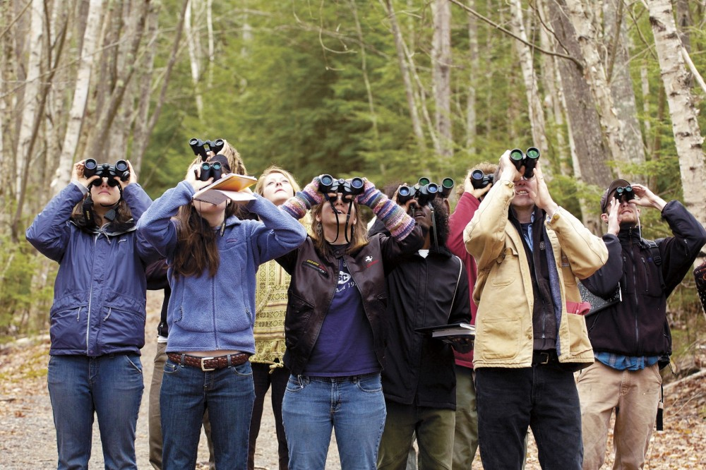 "Students in the <a href=""/live/profiles/1622-ornithology"">Ornithology</a> course get a close-up view of some of the bird life in nearby Acadia National Park. Field ecology and natural history are important areas of study at the college, offering students experiential, practical work in the field and lab, and allowing them to see the natural world as a dynamic and evolving set of species and environments."