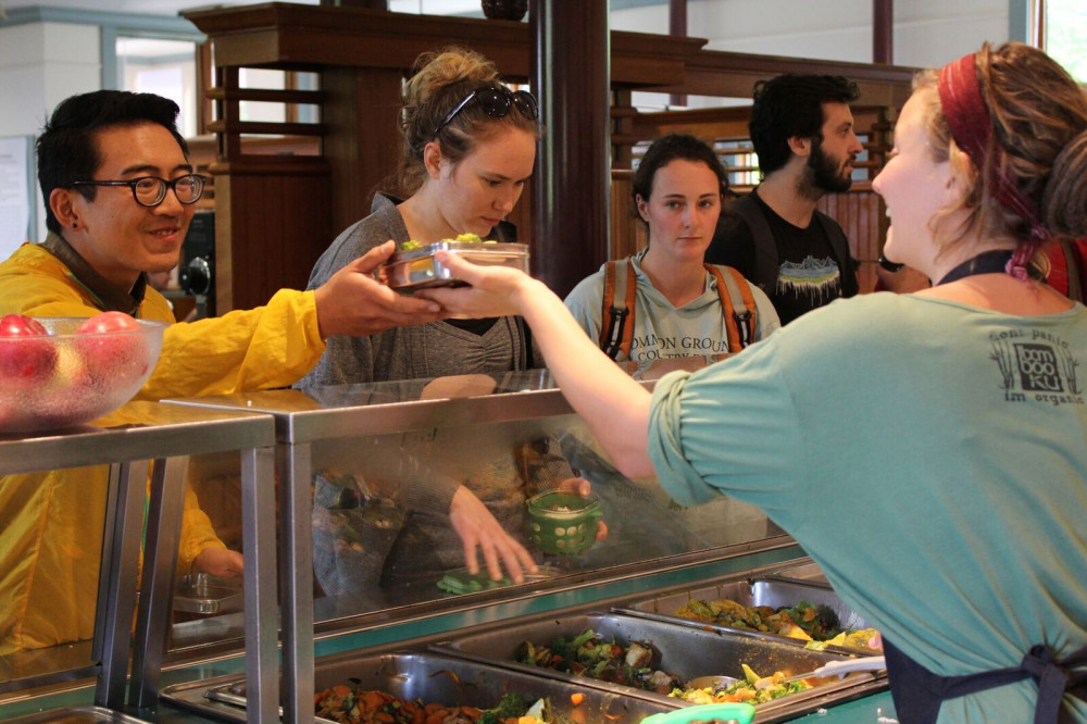 "COA's Blair Dining Hall, affectionately referred to as ""T<a href=""/our-community/dining/"">ake-a-Break</a>,"" offers options from the college's own farms that cater to vegans and omnivores alike."