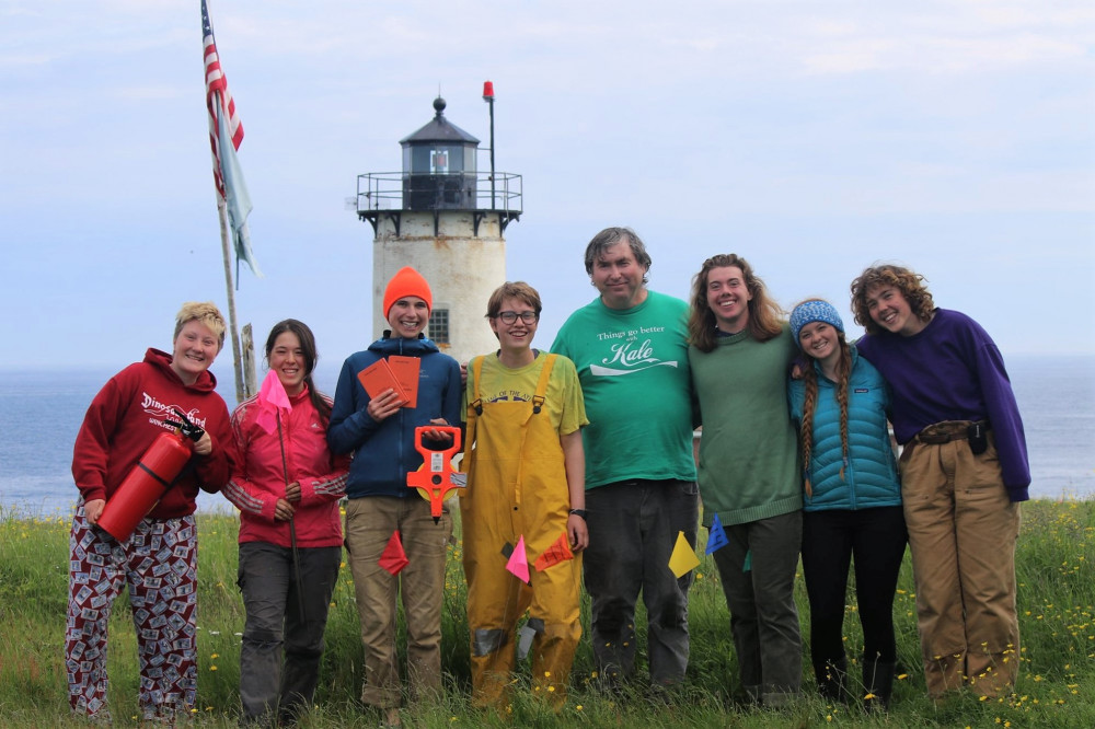 College of the Atlantic students and COA W.H. Drury Professor of Ecology/Natural History Dr. John...