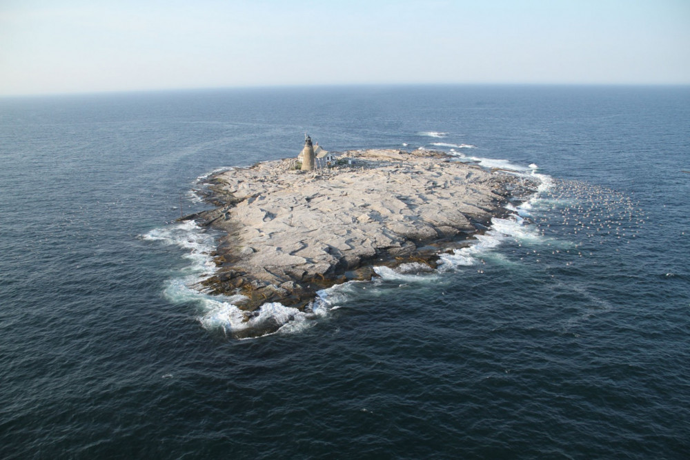 College of the Atlantic Edward McC. Blair Marine Research Station on Mount Desert Rock is used by COA researchers as a launching point to research climate change and other ecological issues in the Gulf of Maine.
