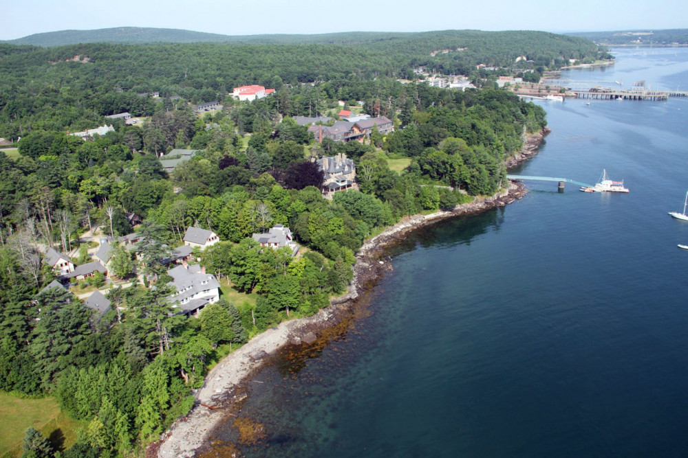 College of the Atlantic's campus is situated on the coast of Mount Desert Island, Maine — borde...