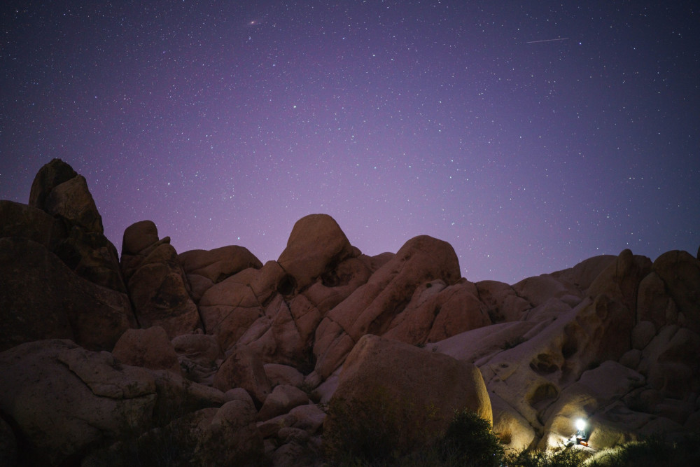 An Pham Nguyen '18 says his most memorable experience of solitude occurred while he was in Joshua Tree National Park, during his two-month journey through the California wilderness.