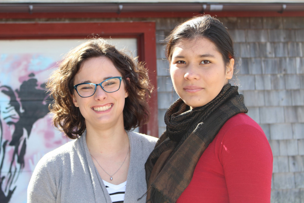 "[Re]Produce is a <a href=""/academics/areas-of-study/sustainable-business/"" target=""_blank"">sustainable business venture</a> conceived by College of the Atlantic students Grace Burchard '17, left, and Anita van Dam '19. The start-up focuses on making use of cosmetically unmarketable and surplus production from local farms."