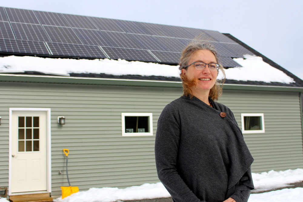 Wendy Lessard decided she wanted to make the building for her massage therapy practice as sustainable as possible, and reached out to College of the Atlantic's Community Energy Center for help.