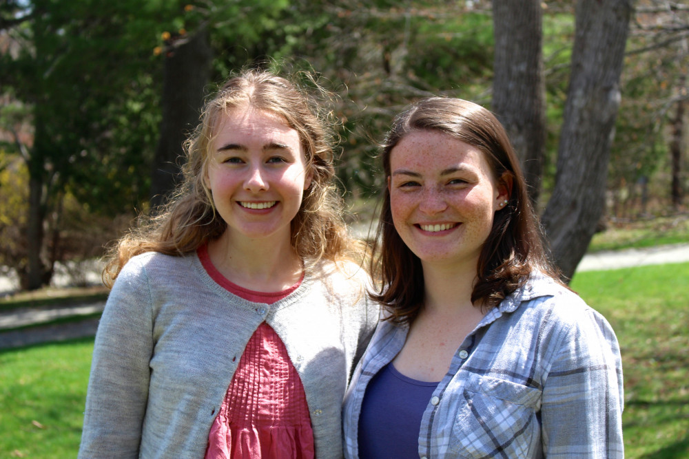 Teaghan Rose '19, left, and Sidney Anderson '19 are College of the Atlantic's 2018 Acadia Sch...