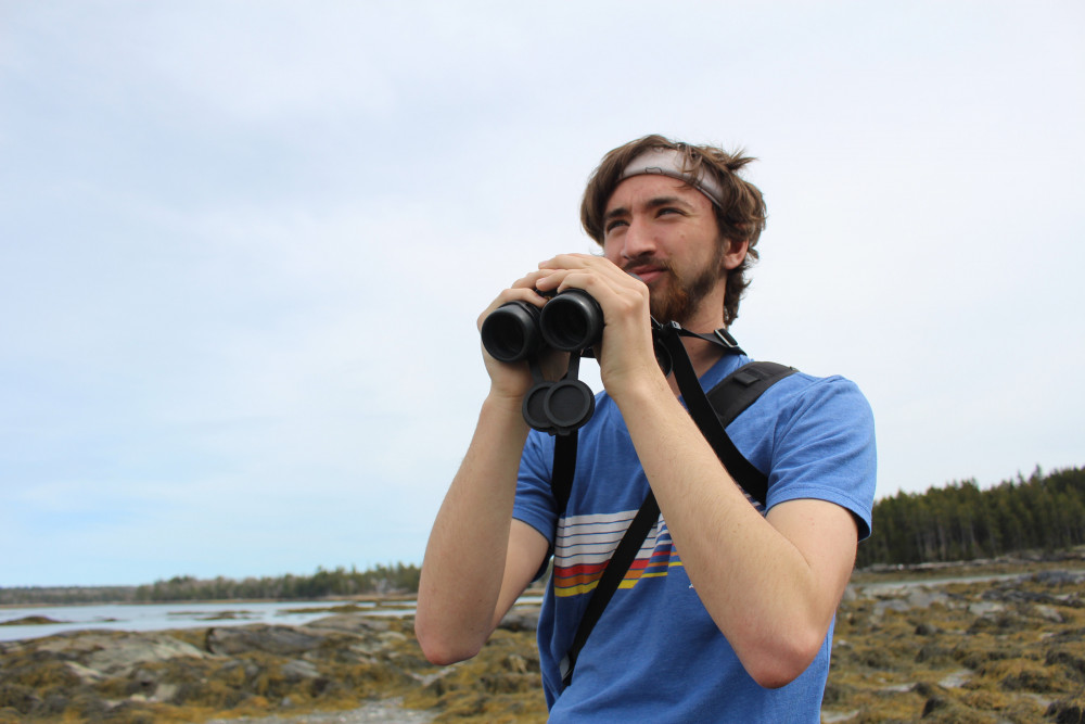 Nathan Dubrow '21 seizes the opportunity to get out and about on MDI to pursue his passion for birding. Dubrow is in the Ornithology class at COA and has held a long-held passion for birds.