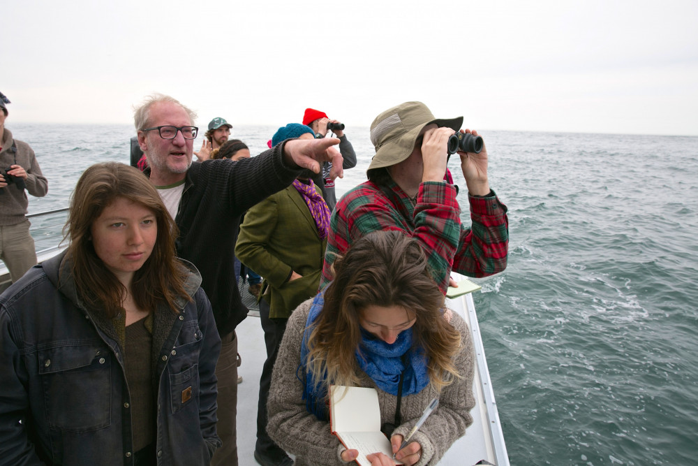 Students use COA's boat Osprey to observe and learn about marine organisms and mammals in Frenc...
