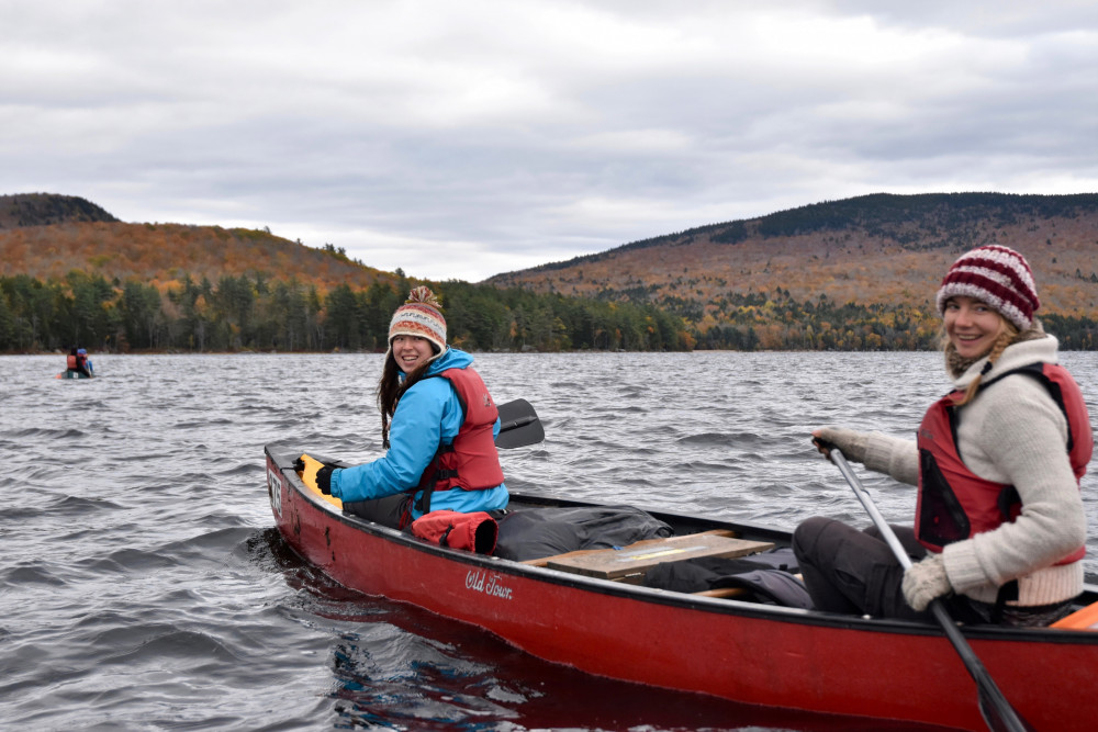 Maine's abundant rivers and lakes make for incredible exploring for students at College of the At...