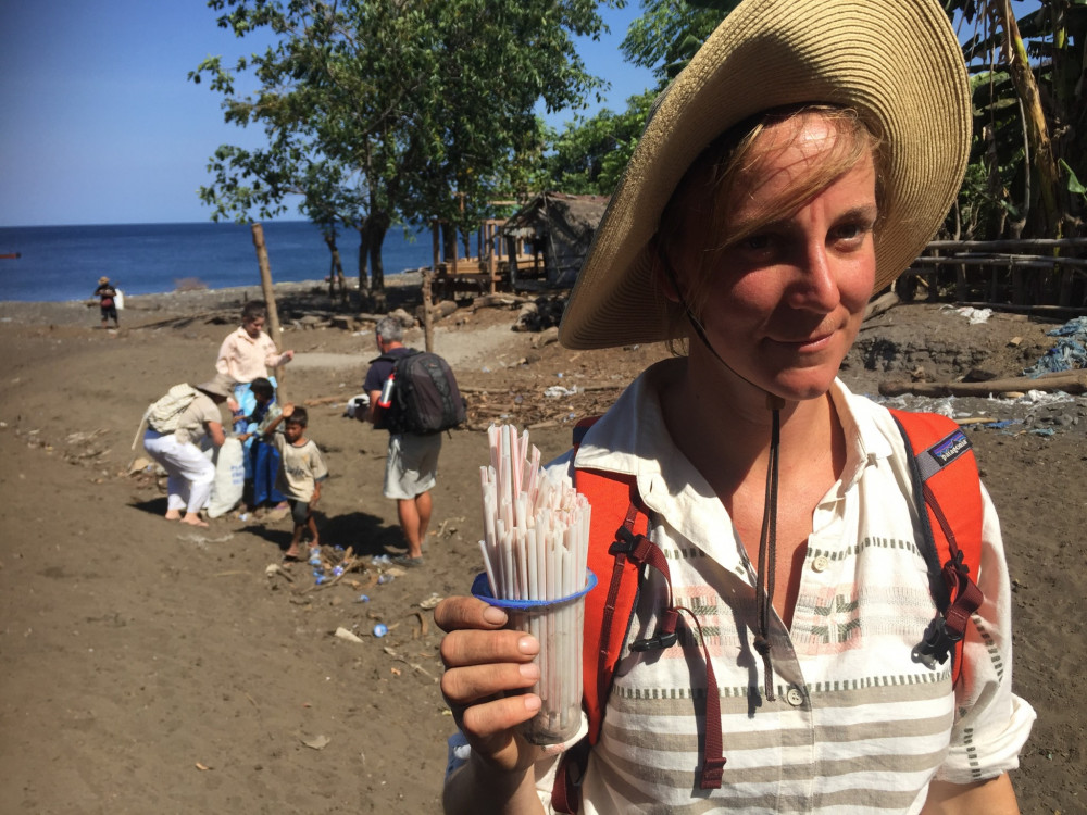 Abby Barrows MPhil '18 traveled to Indonesia to study the area's accumulation of microplastics.
