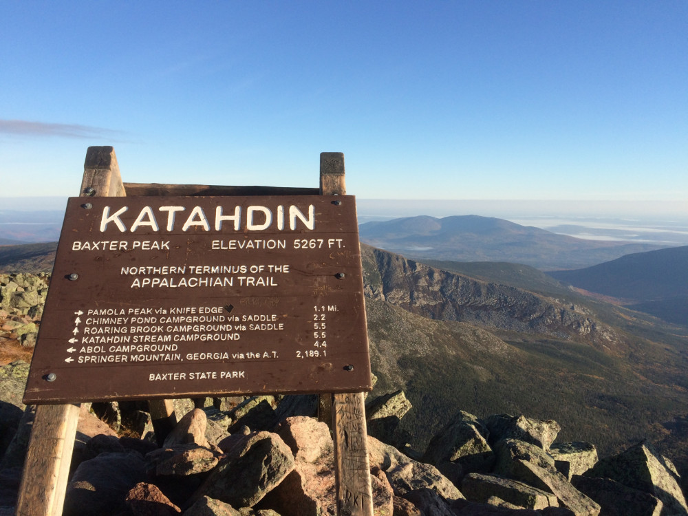 Mount Katahdin is the highest mountain in Maine, peaking at 5,269 feet above sea level, and also serves as the Northeastern end of the Appalachian Trail.