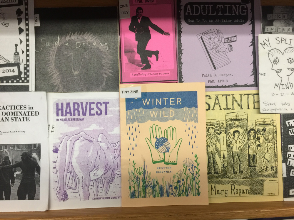 By 1993, an estimated 40,000 zines were being published in North America, according to Mental Floss. College of the Atlantic Thorndike Library now has a zine collection honoring the medium.