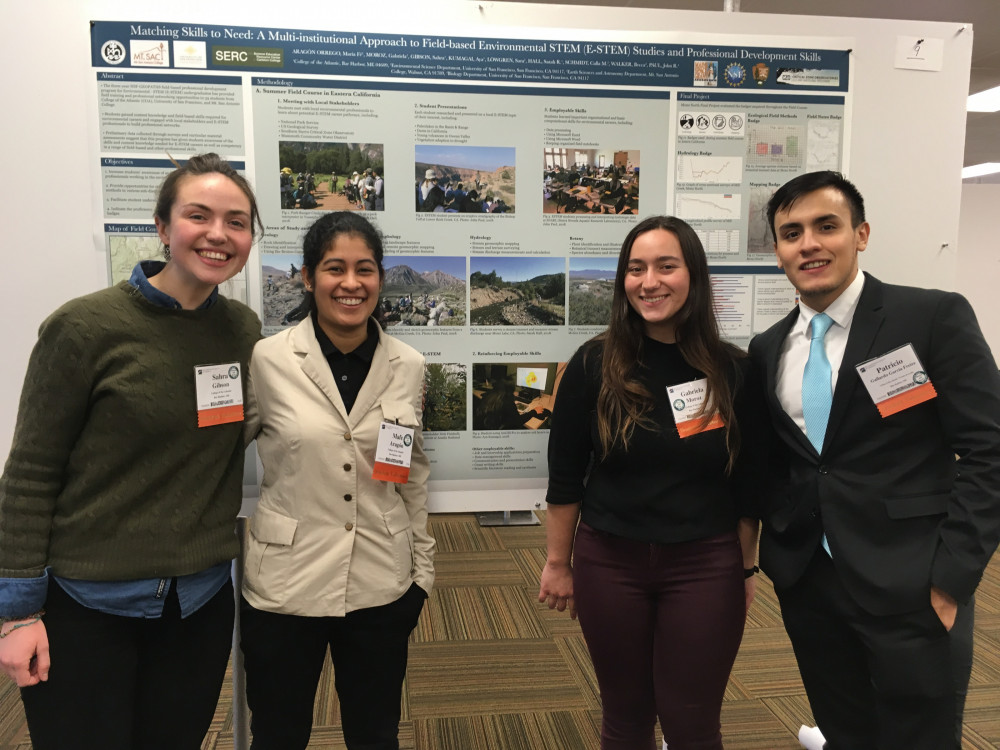 COA students (from left) Sahra Gibson '20, Mafe Aragon '19, Gaby Moroz '19 and Patricio Gal...