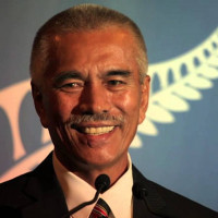 His Excelleny President Anote Tong of the Micronesian island nation of Kiribati speaks at College of the Atlantic's ...