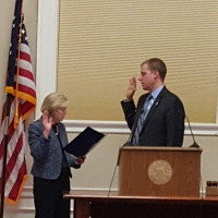 Mike Zwirko '01 was sworn in as the President of the Board of Aldermen in Melrose, MA in early February.