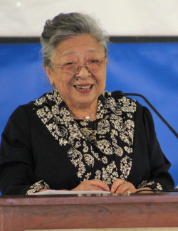 COA 2019 Commencement speaker Koko Tanimoto Kondo, a peace activist and survivor of the atomic bomb.