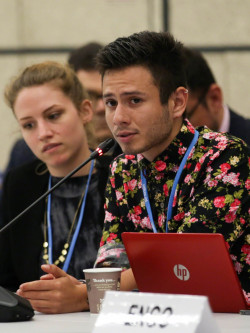 Felipe Andrés Fontecilla Gutiérrez '21 takes part in the United Nations Framework Convention ...