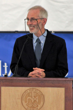 College of the Atlantic honorary MPhil recipient and retired Acadia National Park biologist Bruce Connery.