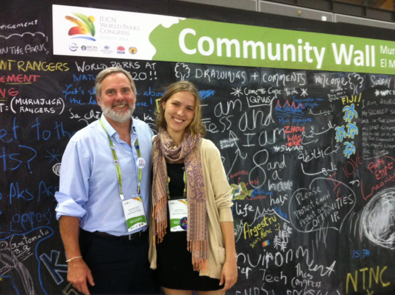 In a presentation at the World Parks Congress in Sydney, Australia last week, David Rockefeller Family Chair in Ecosystem Management and Protection Ken Cline and alumna Zinta Rutins '14 offered a strong vision of COA's stewardship partnership with Acadia National Park.