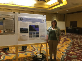 Nina Duggan '18 presents her research on Common Eider predation at the Northeast Natural History Conference.