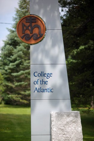 Main entrance to College of the Atlantic