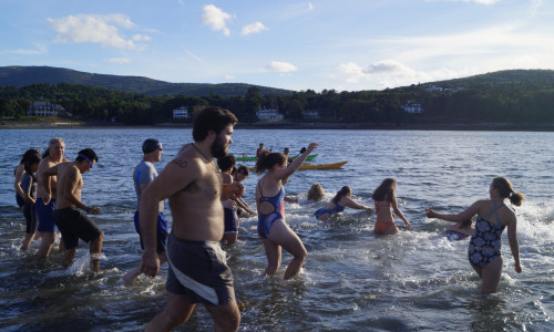 bar island swim 2016 group water