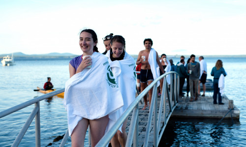 bar island swim 2016 students pier