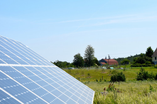 College of the Atlantic's Community Energy Center will help foster economic, social, and environmental sustainability to communities across Maine. Students will lead the way on projects, as they did with the photovoltaic installation at COA's Peggy Rockefeller Farms, above.