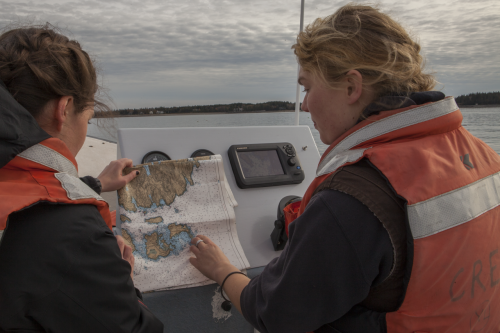 "Throughout the course of Mapping Ocean Stories, students visited a number of <a href=""/islands/"" target=""_blank"" rel=""noopener noreferrer"">island</a> communities in the Gulf of Maine, such as Little Cranberry Island."