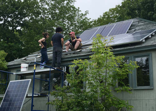 Students working with the College of the Atlantic Community Energy Center improve energy systems ...