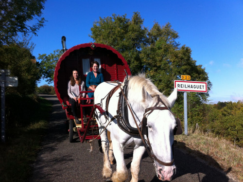 "Emma Burke '17 incorporated prehistoric art with a journey across France in a horse-drawn carriage for her <a href=""/academics/human-ecology-degree/senior-project/"" target=""_blank"">senior project</a>."