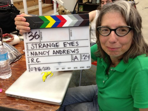 "College of the Atlantic professor of performance art and video production <a href=""/live/profiles/1113-nancy-evelyn-andrews"" target=""_blank"">Nancy Andrews</a> directed and produced the experimental action, science fiction, musical film ""<a href=""/live/news/912-strange-eyes-named-outstanding-feature"" target=""_blank"">The Strange Eyes of Dr. Myes</a>,"" which premiered at the International Film Festival Rotterdam in 2015."
