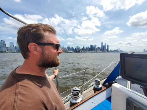 Despite some initial challenges, Chris Tremblay '03 and the rest of River Gull's crew success...