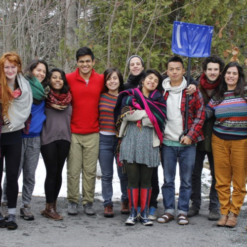Members of Earth in Brackets — the student-run environmental group at College of the Atlantic — prepare to depart for ...