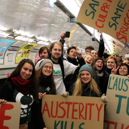 COA students join the battle for climate justice at COP21 in Paris, December 2015.