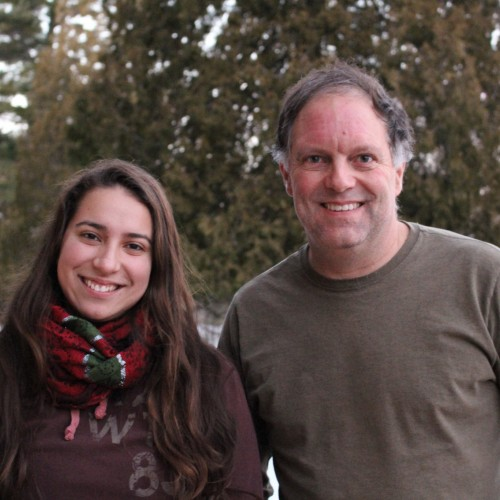 Aura Silva '18 and economics professor Davis Taylor present their work on sustainable development at COA's Human Ecology F...