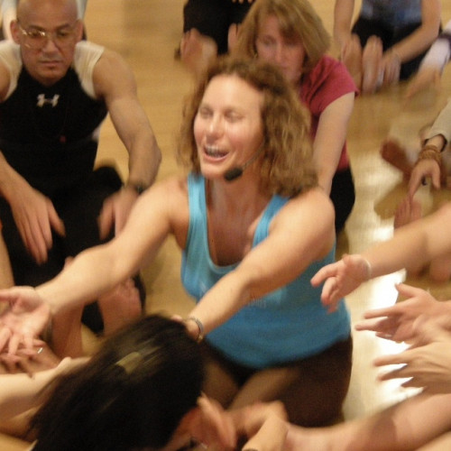Combining music with movement, Susan Sassaman works with chakra energy to give COA students a sense of deep release.
