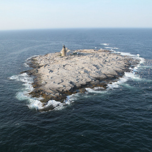 College of the Atlantic Edward McC. Blair Marine Research Station on Mount Desert Rock is used by...
