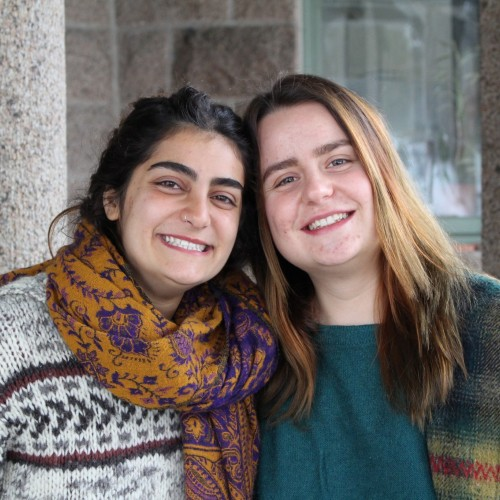 Moni Ayoub '19, left, and Anđela Rončević '19, are the recipients of a $10,000 Projects for Peace grant from the ...