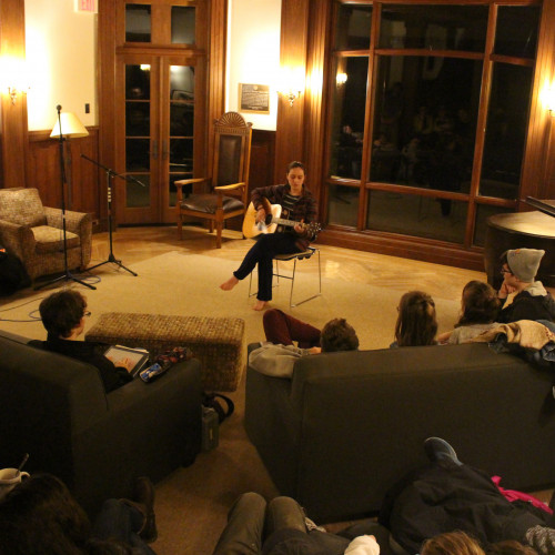 Open Mic night in COA's Turrets Hall, one of the many performance spaces on campus.