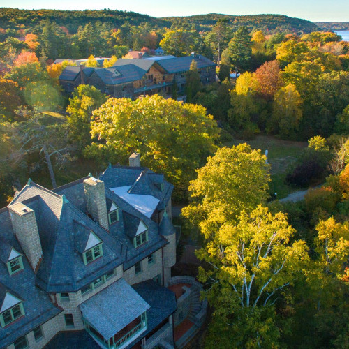 College of the Atlantic's oceanfront campus is sandwiched between Maine's Frenchman Bay and Aca...