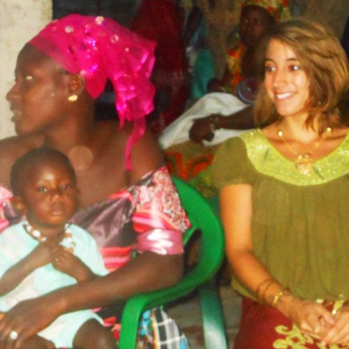 COA student Gabby Roos at a wedding in The Gambia during an internship there in 2012.