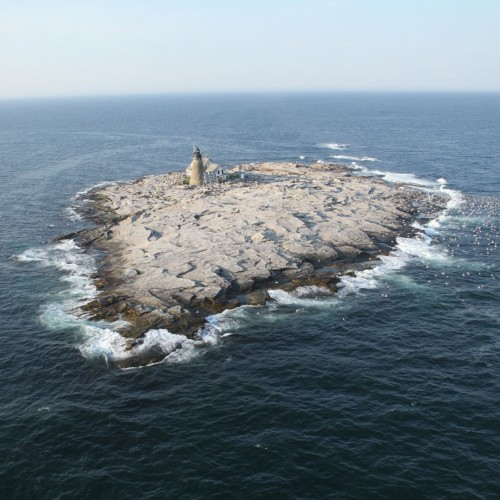 Mount Desert Rock, home to COA's Edward McC. Blair Marine Research Station, is a remote, treele...
