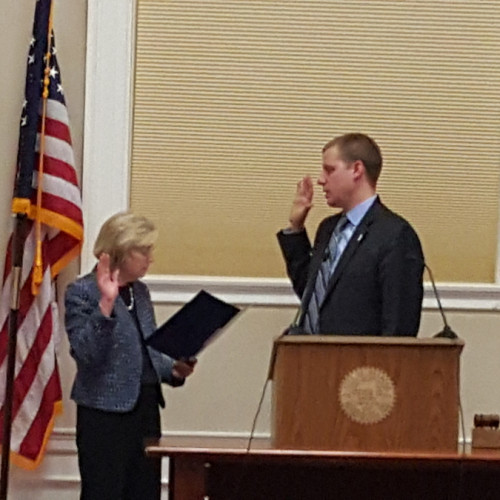 Mike Zwirko '01 was sworn in as the President of the Board of Aldermen in Melrose, MA in early Fe...