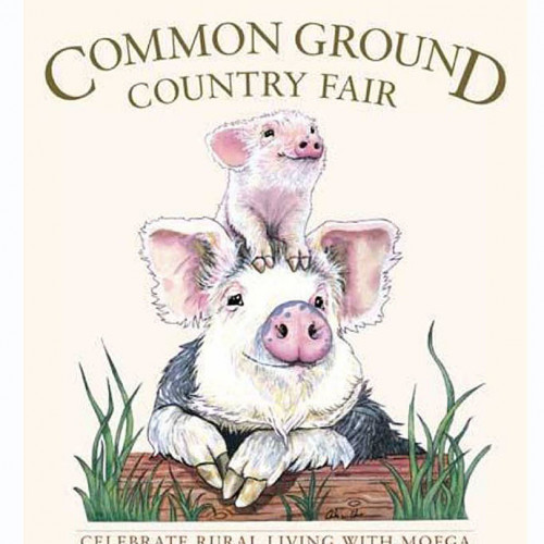 Arika von Edler '12 is the artist behind the Common Ground Fair's 2018 poster!
