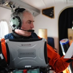 Tim Cole '88, aerial survey researcher.